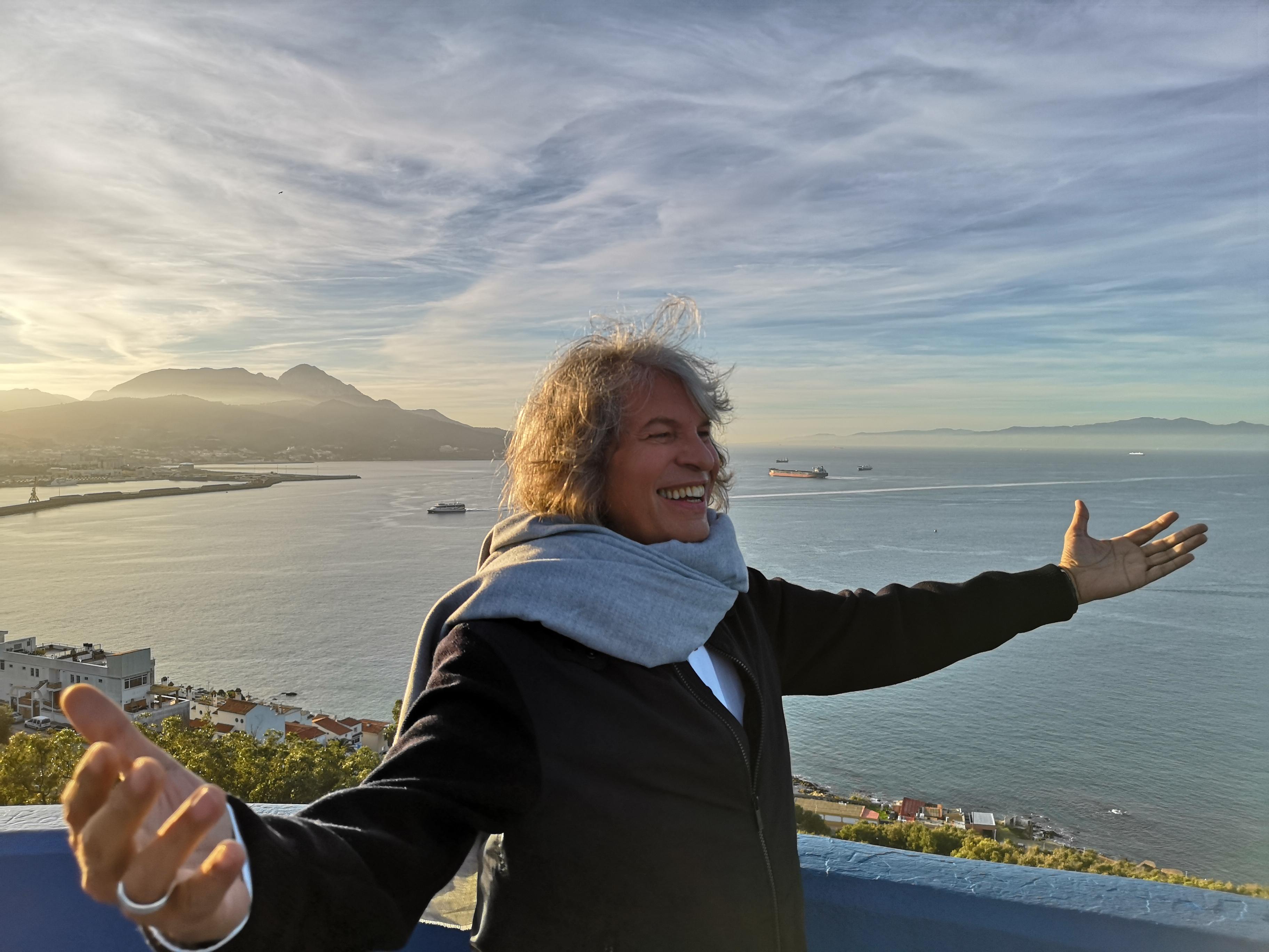 José Mercé en el rodaje de la Campaña de Turismo de Ceuta